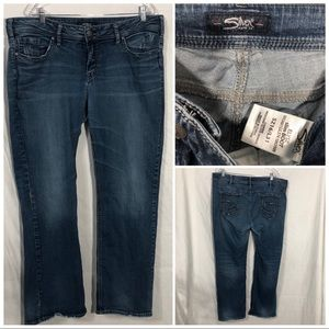 Silver Jeans ELYSE slim Boot size 16